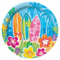 Hula Girl Luau Dessert Plates, 17.1 CM, 8ct