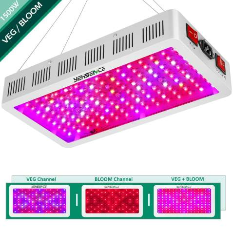 Yehsence 1500w Led Grow Light With Bloom And Veg Switch Triple Chips 15w Led Led Plant Growing Lamp Full Spectrum With Daisy Chained Design For Professional Greenhouse Hydroponic Indoor Plants