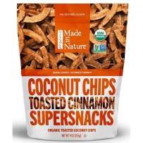 Made in Nature Organic Vietnamese Cinnamon Toasted Coconut Chips, 3 Ounce (Pack of 6) - Non-GMO Vegan Super Snack