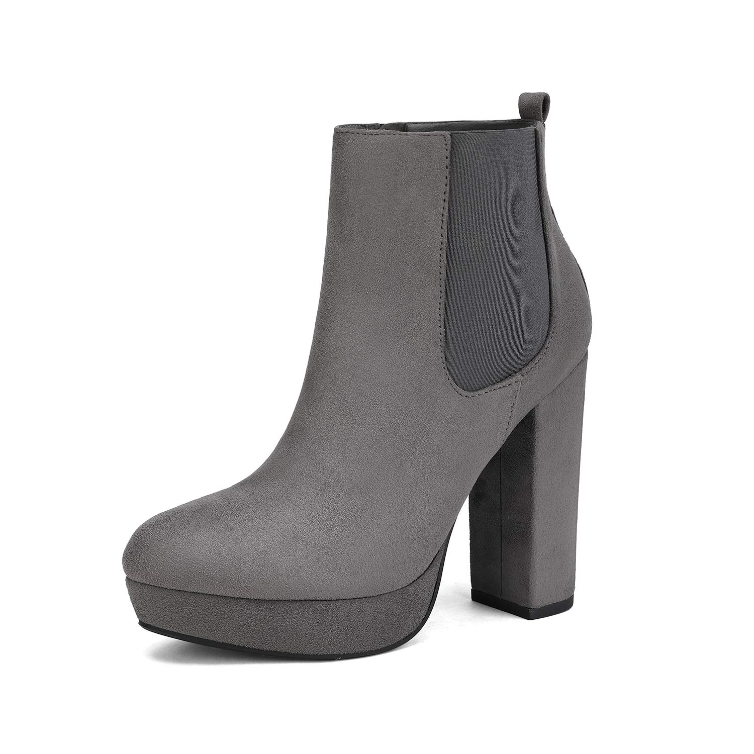 DREAM PAIRS Women's Chunky High Heel Ankle Boots Chelsea Booties
