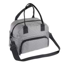 Teamkio Leak-proof Large Lunch Bag, Insulated Cooler & Thermal Lunch Bag for Women & Men, Water-resistant Lunch Box with Detachable Strap, Lunch Bag with Water Bottle Holder