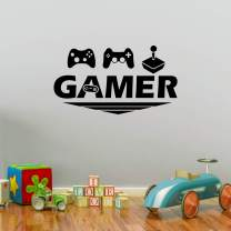 Ouboya Video Game Wall Stickers Gaming Controller Joystick Playroom Wall Decals for Bedroom Living Room Decals - Funny Pubs Bars Wall Decoration Removable Art Mural for Boys Kids Men (Game C)