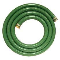"""Apache 98128005 1-1/2"""" x 15' PVC Style G (Green) Suction Hose with Aluminum Pin Lug Fittings"""
