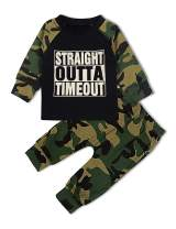 Toddler Baby Boy Clothes Daddy's Boy Long Sleeve Sweatshirt Top + Camouflage Pants Summer Outfit Set