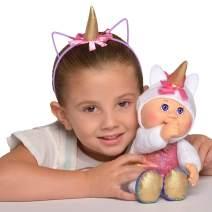 "Cabbage Patch Kids CPK & Me 9"" Sparkle Unicorn Cutie Doll & Matching Unicorn Headband Accessory"
