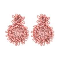 Szory Bohemian Statement Beaded Drop Earrings for Women