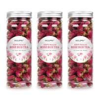 MQUPIN Organic Rose Bud Tea Dried Red Rose Petal Flower Edible Buds Detox Tea 250g/3Packs