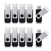 Aiibe 8 GB Flash Drive 10 Pack Bulk 8GB USB Flash Drives 2.0 USB Stick Thumb Drive USB Drive Pack, Black
