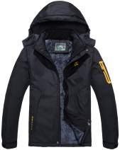 Rdruko Women's Waterproof Ski Jacket Outdoor Windbreaker Fleece Hooded Rain Winter Coat