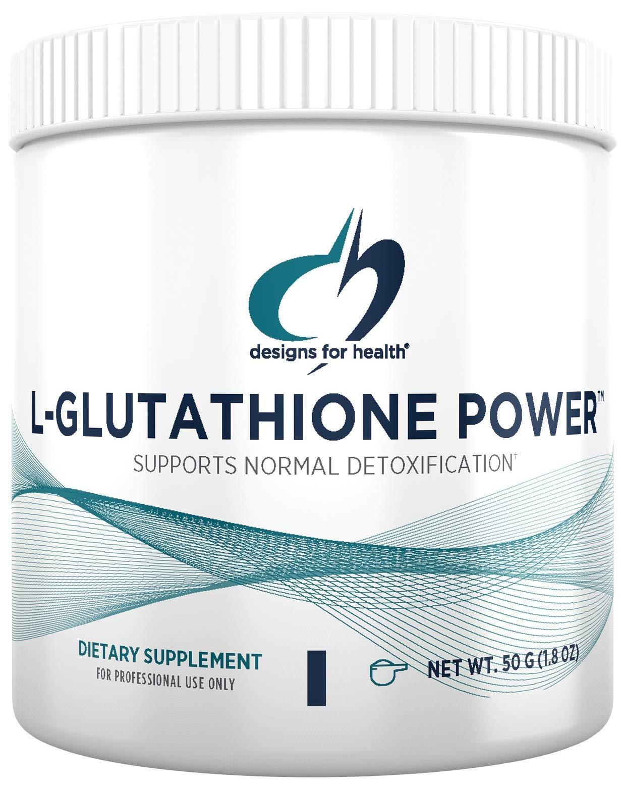 Designs for Health L-Glutathione Powder 1000mg - Reduced L-Glutathione Antioxidant Support (50 Servings / 50g)