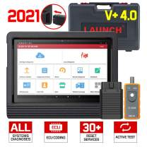 LAUNCH X431 V+ 4.0 Advanced Diagnostic Tool, ECU Coding, Activation Test, Full System Diagnostics, 31+ Maintenance Services, AutoAuth for FCA, SGW, Wi-Fi/Bluetooth Android 9.0 with 2 Years Free Update