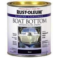 Rust-Oleum Available 207012 Marine Flat Boat Bottom Antifouling Paint, 1-Quart, Black