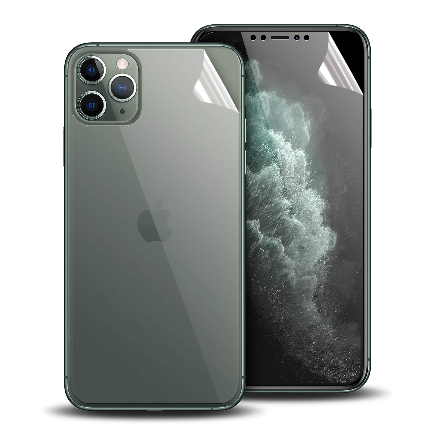 Olixar for iPhone 11 Pro Max Front and Back Screen Protectors - Case Friendly Protection - TPU Design - Easy Application - for iPhone 11 Pro Max