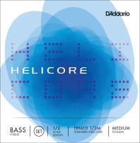 D'Addario Helicore Hybrid Bass String Set, 1/2 Scale, Medium Tension