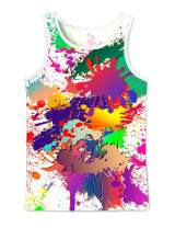 Asylvain Unisex Tank Tops 3D Print Colorful Graphic Sleeveless Shirts Vest for Men and Women
