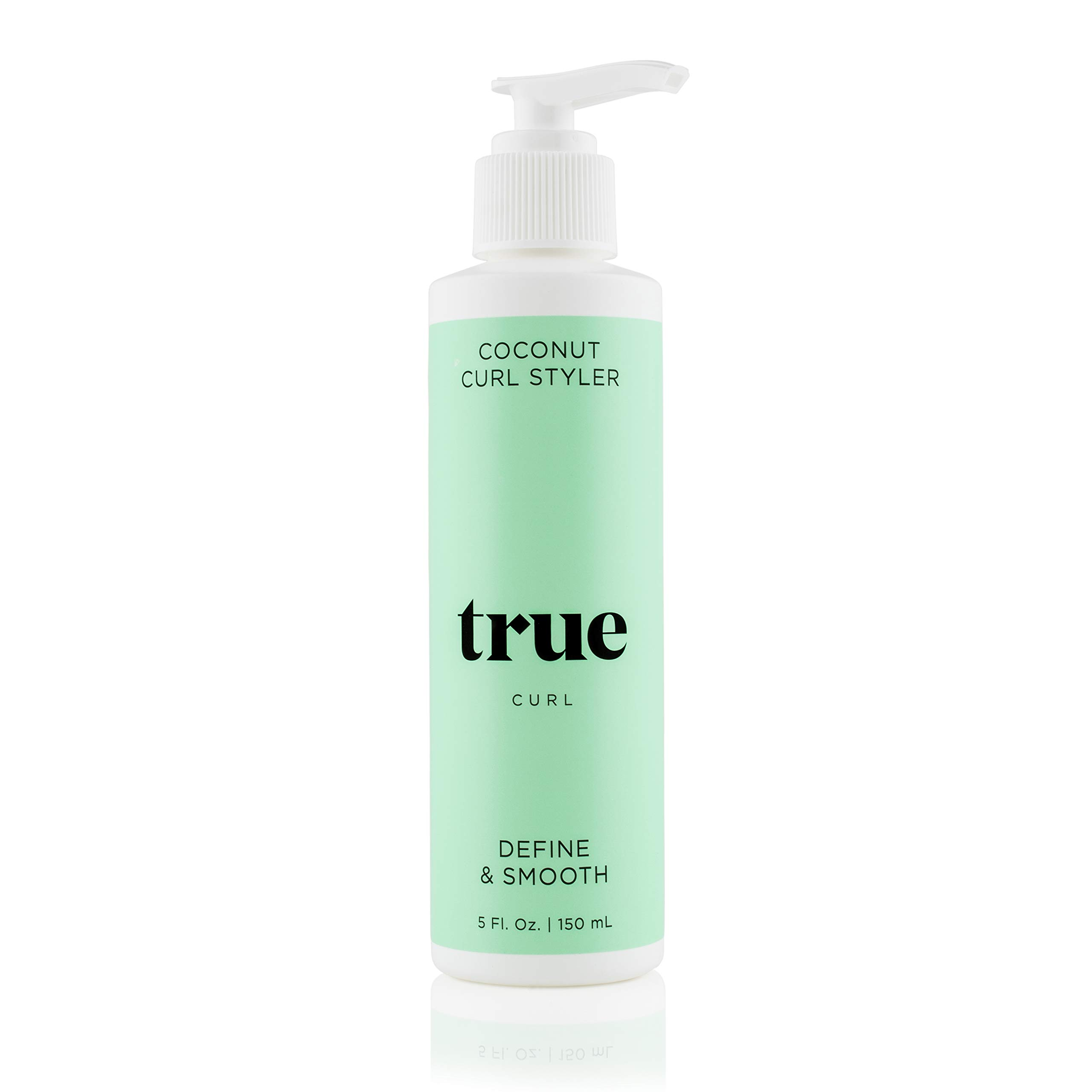 True Curl Coconut Styling Cream. Vegan, Cruelty Free, Define and Smooth for Frizz-Free Wavy, Curly Hair. Silicone, Sulfate and Paraben-Free, 5 Fl Oz.