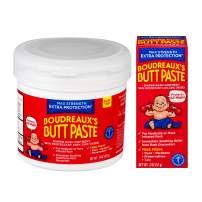 Boudreaux's Butt Paste Diaper Rash Ointment, Maximum Strength, 14 Oz and 2 Oz