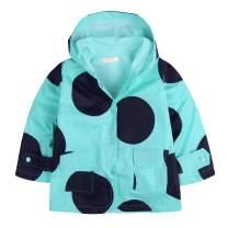 Arshiner Toddler Kids Printed Lightweight Single Jacket Waterproof Outwear Raincoat Hoodies Blue 130(Age for 5-6Y)