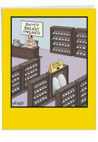 Jumbo Staff Picks Birthday Card' Big Greeting Card with Envelope 8.5 x 11 Inch - Breast Implants for Sale - Best Seller is Biggest Size - Funny Cartoon Stationery Happy Bday J1272