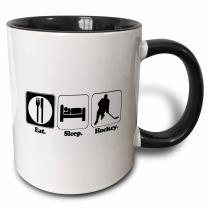 3dRose 116960_4 Mug, 11oz, Black/White