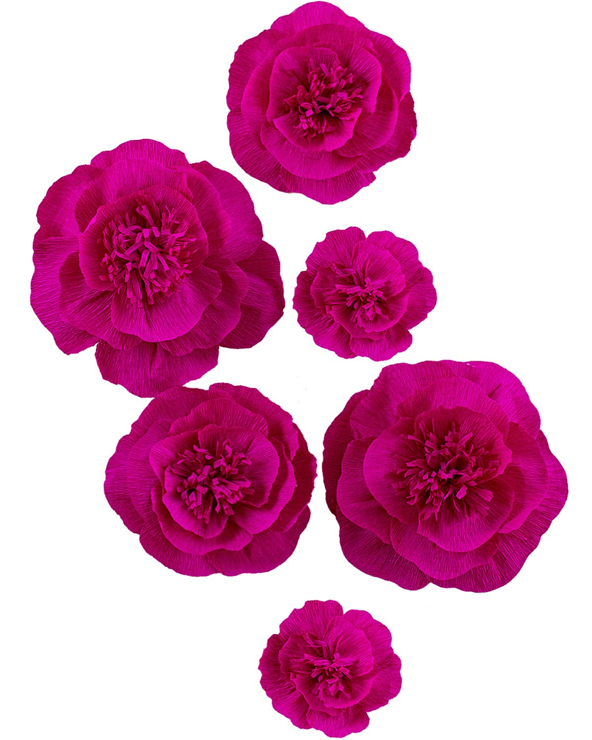 Letjolt ROSEO Paper Flower Decorations for Wall Backdrop Easter Sunday Decor Wedding Ornaments Birthday Party Baby Shower Bridal Shower Nursery Wall(ROSEO Set 6)