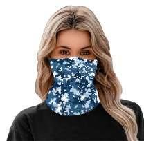 meakeize Unisex Full-Coverage Tube Face Mask Bandanas UV Protection Neck Gaiter Headband, UPF 50+ Fabric