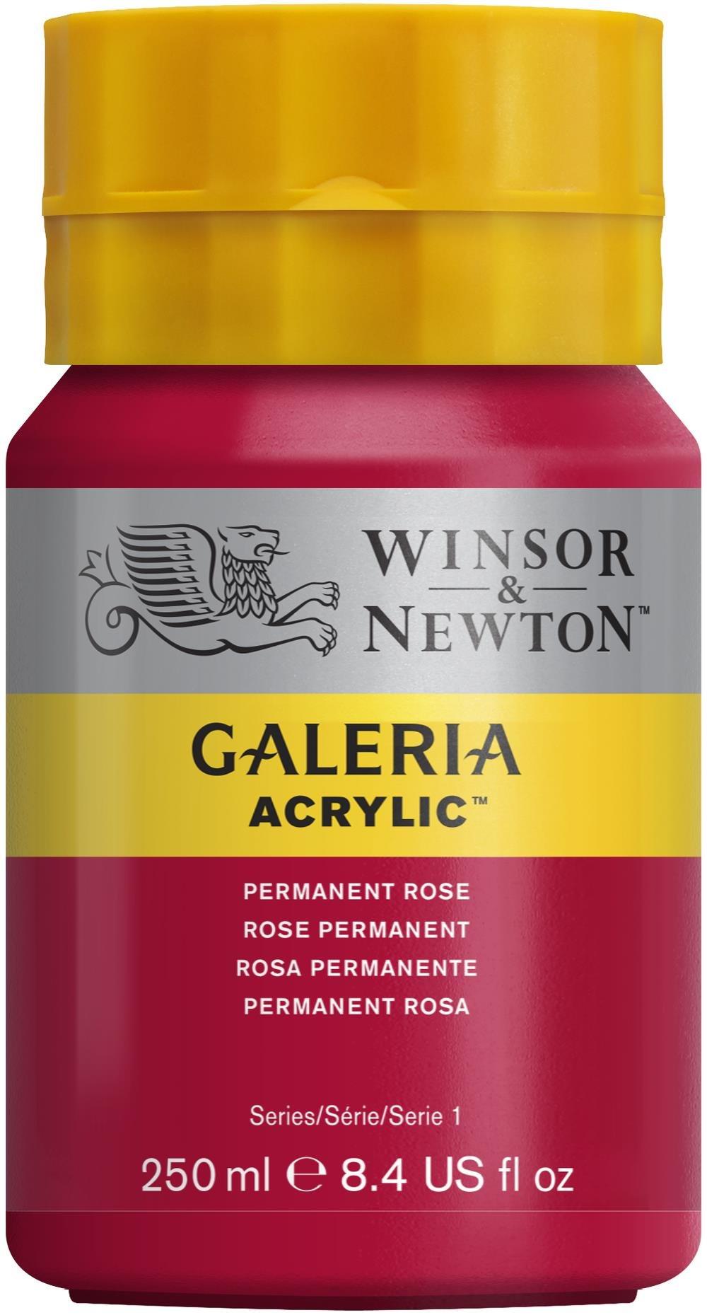 Winsor & Newton Galeria Acrylic Paint, 250ml Bottle, Permanent Rose