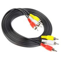 Xenocam 10FT RCA Audio/Video Composite Cable DVD/VCR/SAT Yellow/White/red connectors 3 Male to 3 Male