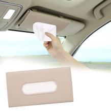 Emoin Car Tissue Holder for Car Visor,Car Tissue Box,Car Visor Tissue Holder,PU Tissue Box Holder Car Assecories for Men Women,Car Visor Tissue Holder Storage Cases for Car (Beige)