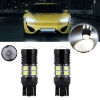 cciyu 2 Pack 12V 60W 6000LM Cree 12 SMD 7440 7441 7443 7444 LED Bulb Xenon White with Projector Replacement fit for Reverse Backup Light High Power Lamp