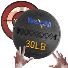 Yes4All Wall Ball/Soft Medicine Ball with Target Sticker Included - Full Body Dynamic Exercises