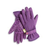 Dig It Gardening Gloves with Fingertip Pillow-top Protection for All Types of Gardening Chores and Other DIY Activities (Purple, Small/Medium)