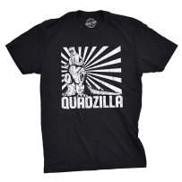 Mens Quadzilla T Shirt Funny Gym Tee Leg Day Tshirt Joke Workout Top
