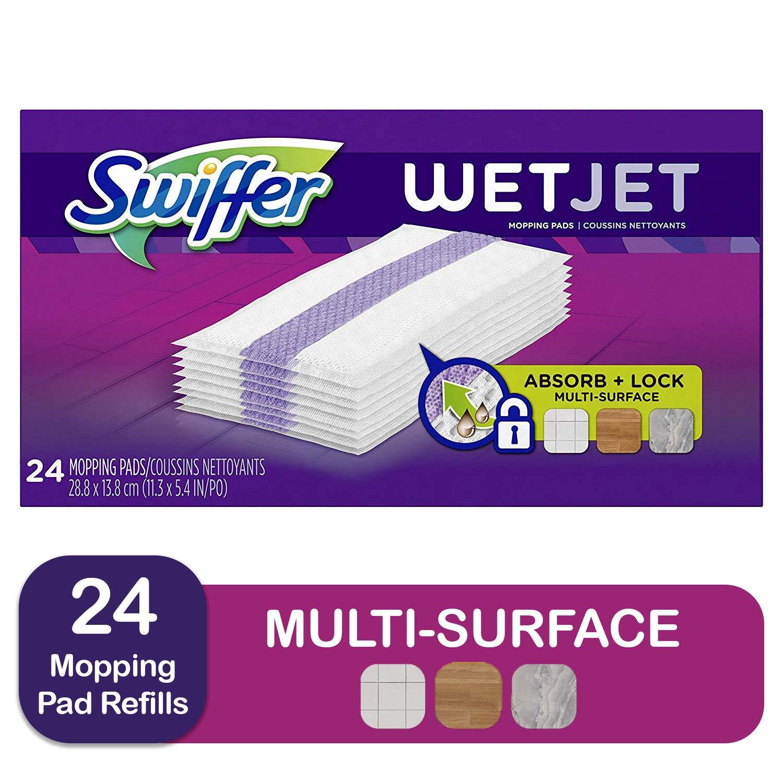 Swiffer Wetjet,  All Purpose Multi Surface Floor Cleaner, 24 Count