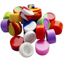Bassion 20Pcs Non-Stick Food Grade Silicone Wax Dab Containers 5ml Non Stick Wax Oil Multi Use Storage Jars, Assorted Colors