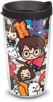 Tervis 1267927 Harry Potter - Group Charms Tumbler with Wrap and Black Lid 16oz, Clear