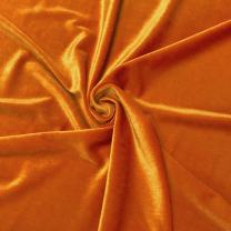 Stretch Velvet Fabric 60'' Wide by The Yard for Sewing Apparel Costumes Craft (1 Yard, Orange)