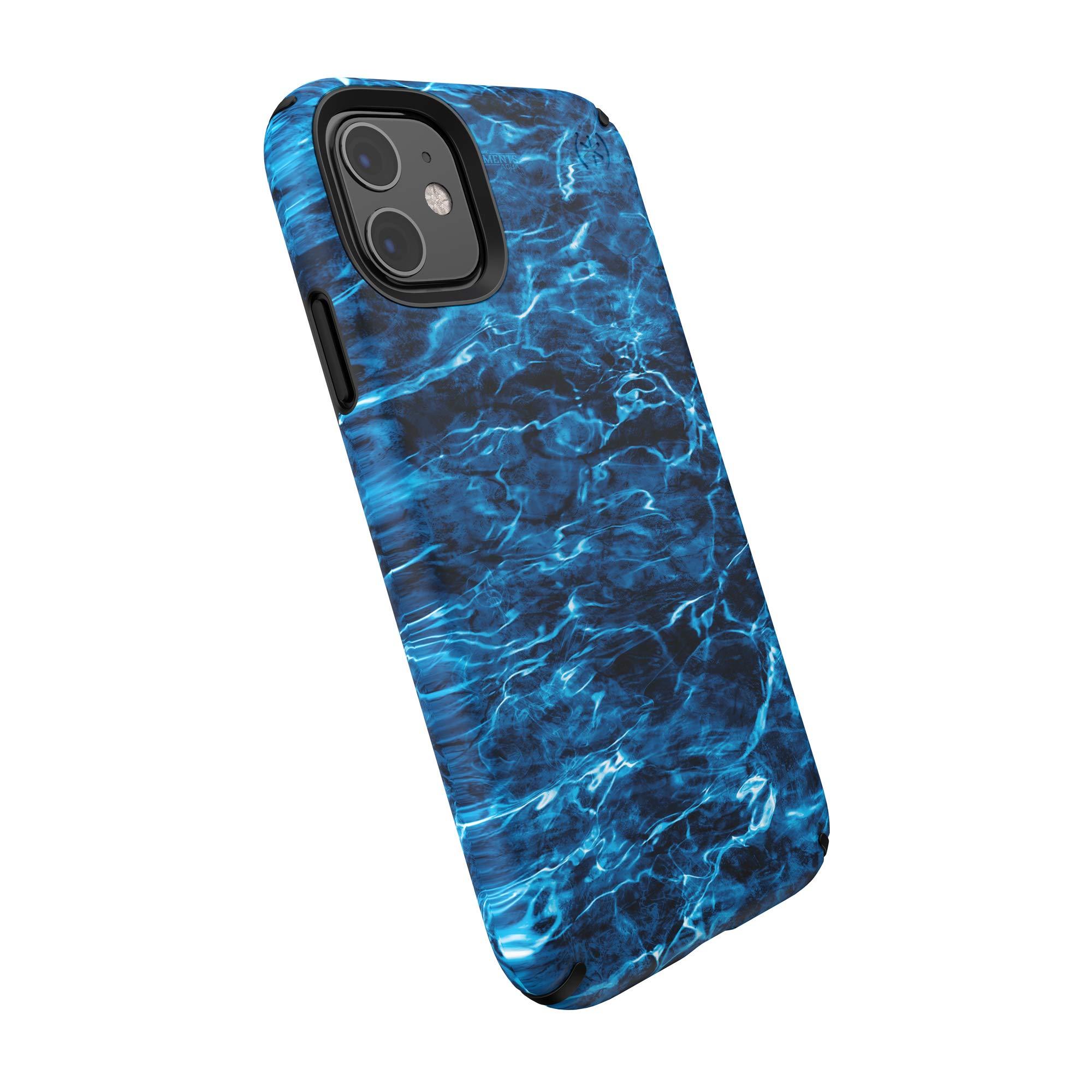 Speck Presidio Inked iPhone 11 Case, Mossy Oak Elements Agua Marlin/Black