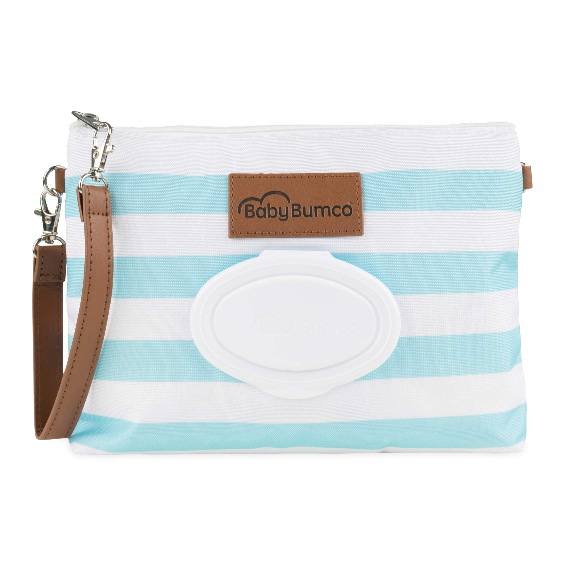 Baby Diaper Clutch with Refillable Wipes Dispenser - Baby Bumco Diaper Products (Sky Blue)