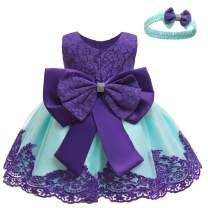 LZH Toddler Baby Girls Dress Birthday Bowknot Tutu Princess Flower Lace Dress