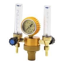 Hanchen Double Meters Argon Regulator Welding Regulator Argon Gas Flow Meter Reduced Pressure Meter 25Mpa