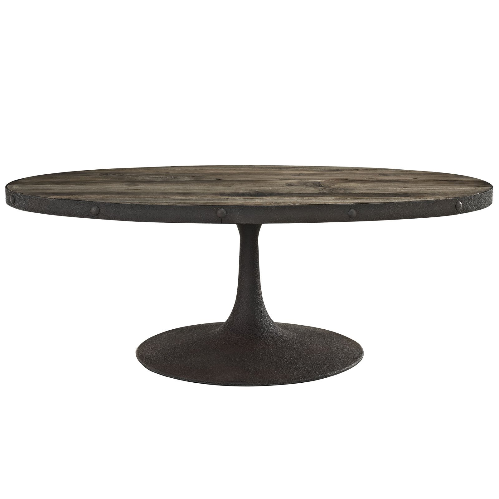 Modway Drive Wood Top Coffee Table in Brown