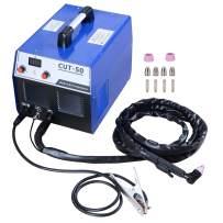 S7 50 Amp Built-In Air Compressor Plasma Cutter Portable Plasma Welder Plasma Cutting Machine IGBT Inverter Digital Plasma Welding Machine(with plug)