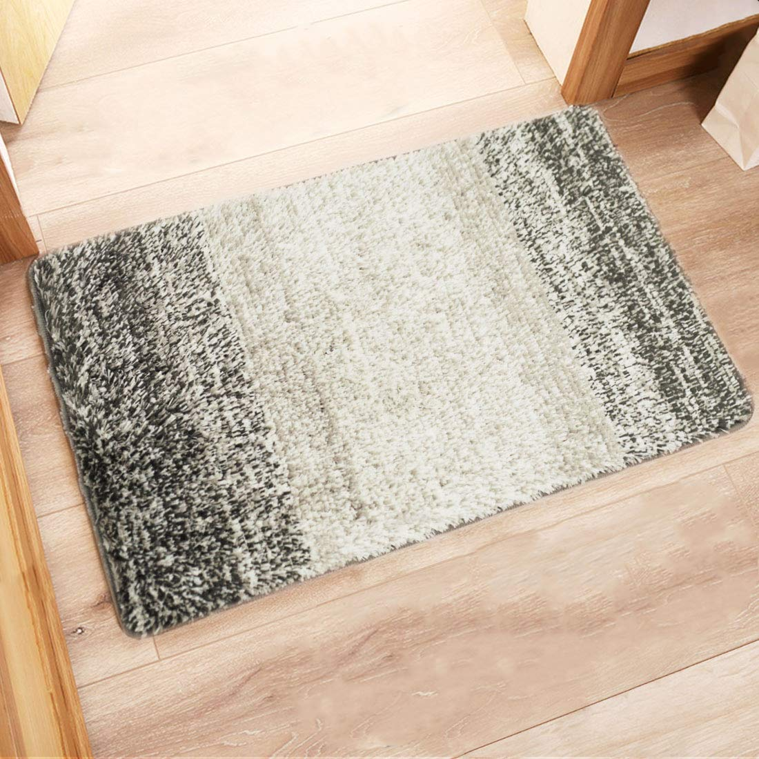 """Indoor Doormat Front Door Mat, Super Absorbent Entrance Door Rug, Non Slip Back Door Mats Indoor, Soft Entry Rugs Inside Machine Washable Door Carpet for Entryway (32""""x20"""", Grey/Gray)"""