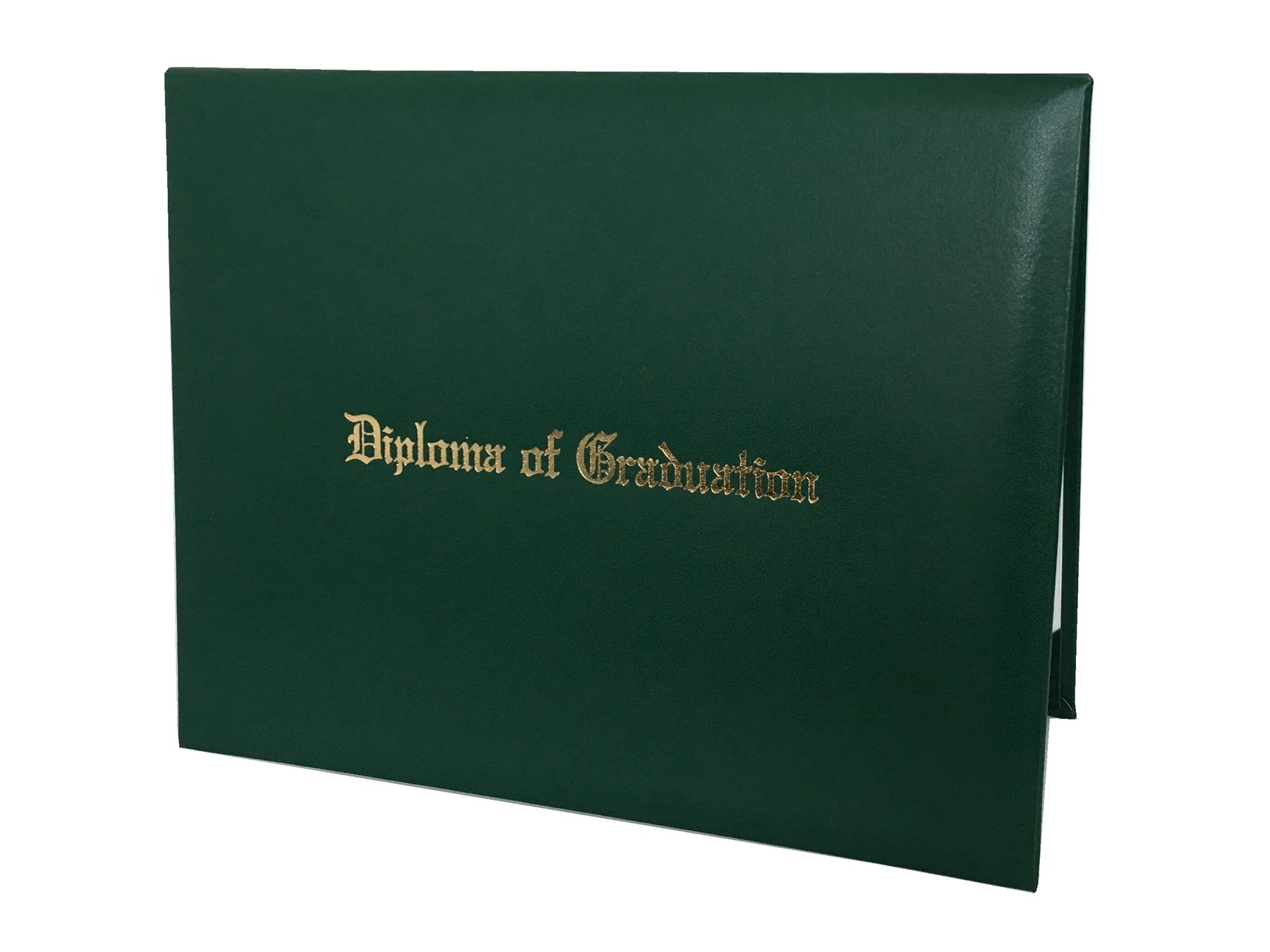 """Annhiengrad Graduation Certificate Cover 8.5"""" X 11"""" with Diploma of Graduation, Forest Green"""