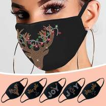Merry Christmas Holiday Face_Mask,Breathable Reusable Ice Cotton Drill Windproof Mouth Protection for Women Men