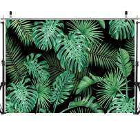 SJOLOON 7X5FT Green Leaves Backdrop Tropical Plants Backdrop Photography Backdrop Birthday Party Decoration Banner Baby Shower Studio Props 11607