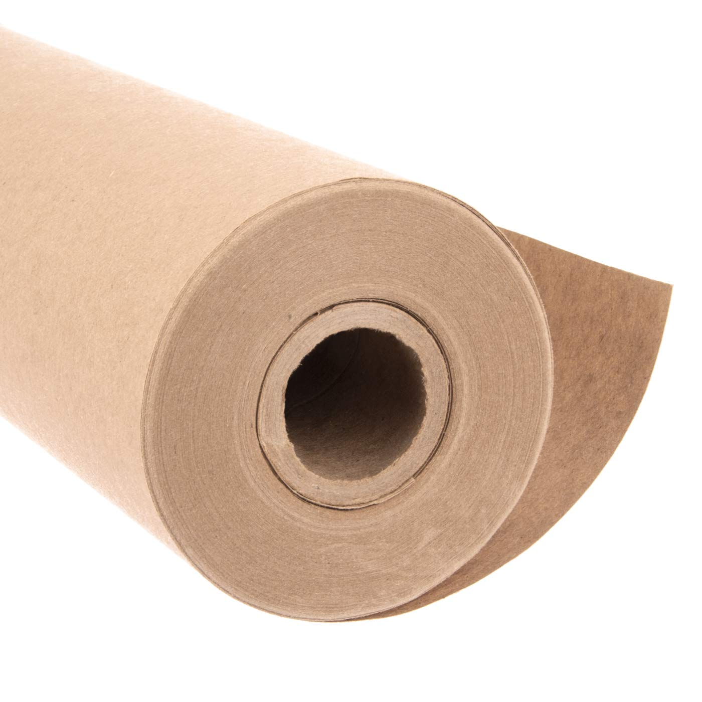 """Eco Kraft Wrapping Paper Roll (Jumbo Roll)   Biodegradable Recycled Material   Made in the USA   Multi-use: Natural Wrapping Paper, Table Cover/Runner, Moving, Packing & Shipping   30"""" x 1200"""" (100ft)"""