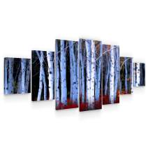 Startonight Huge Canvas Wall Art Birch Forest - Large Framed Set of 7 40 x 95 Inches