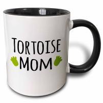 3dRose 154051_4 Tortoise Mom Mug, 11 oz, Black